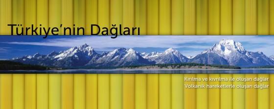 Türkiye'nin dağları (orojenik ve volkanik hareketlerle meydana gelen dağlar)