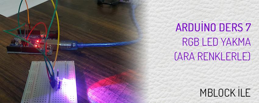 Arduino RGB led yakma (ara renklerle ky-016)