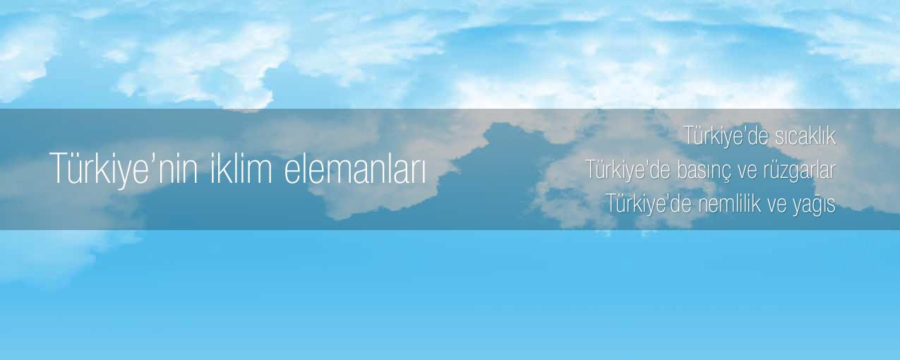 Türkiye'nin iklim elemanları