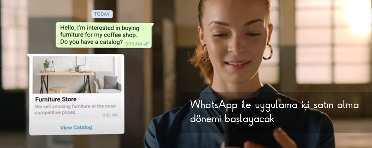WhatsApp, mesajlaşma üzerinden alışveriş imkanı sunacak